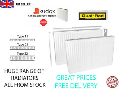 Compact Convector Radiator White Type 11 21 22 300,400,500,600,750MM  Heating