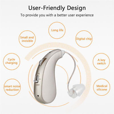 AU Digital Hearing Aids Small Ear Sound Amplifier Adjustable Tone Lightweight