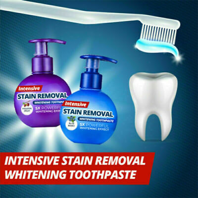 Natural Intensive Stain Remover Whitening Toothpaste Fight Bleeding Fresh Breath
