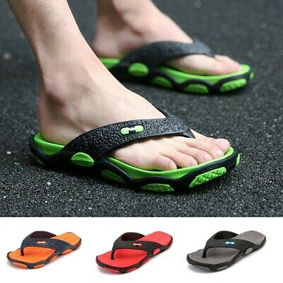 Men's Thong Sandals Orthotic Arch Support Flip Flops Shock Absorbing Slippers