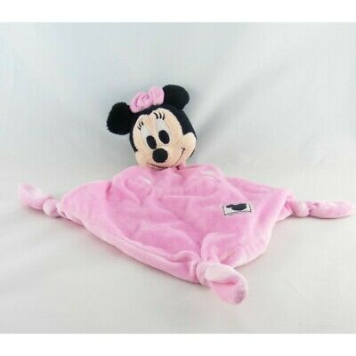 Doudou plat minnie rose pois DISNEY - Souris - Rat Plat / Semi plat