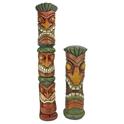 Aloha Hawaii Tiki Design Toscano Exclusive Hand Painted 360 Degrees Sculptures