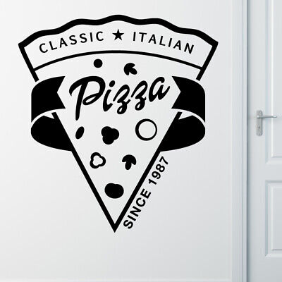 Pizza Takeaway wall sticker cafe decal restaurant fast food burger pz1