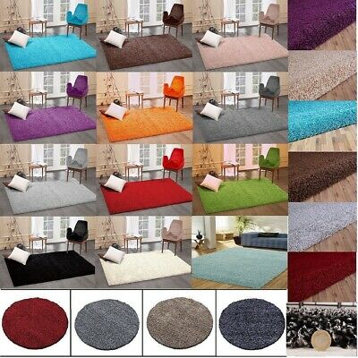 X Large Size Thick Plain Soft Shaggy 5cm PILE Living Bedroom Floor Soft CosyRugs
