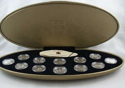 1999 Canada 25 Cents MILLENNIUM Proof Sterling Silver Coin Set