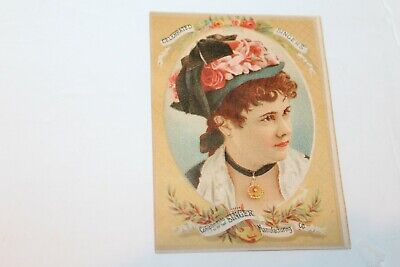 Vintage Celebrated Singers Singer Sewing Machine Co 1800's Victorian Trade Card