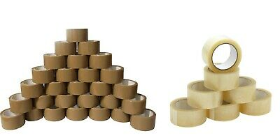 6 ROLLS OF CLEAR PARCEL PACKING TAPE PACKAGING CARTON SEALING 50MM X 66M