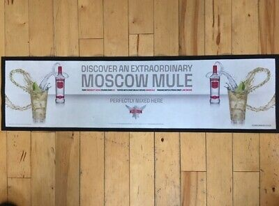 Smirnoff Vodka Moscow Mule Runner Beer Drip Mat Old Style Design Great Condition