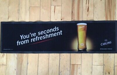 Massive Carling Lager Rubber Bar Runner, Beer Drip Mat Old Style Design Gr8 Cond