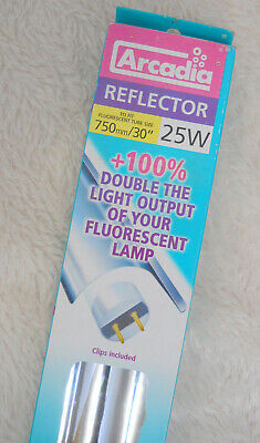 "Light Reflector for T5 & T8 Bulbs - with Clips - Arcadia - 30"" - 25W -"