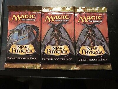 3x New Phyrexia Booster Pack,  MTG New Phyrexia, Factory Sealed