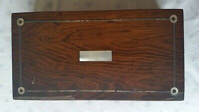 Vintage Wooden Jewellery Box With Mother Of Pearl Inlay-For Repair