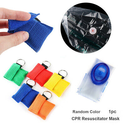 Pocket  Artificial respiration Face Shield Emergency Aid CPR Resuscitator Mask