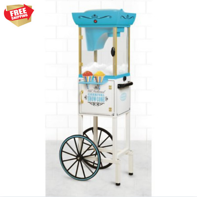 Snow Cone Machine Raspado Maker Shaved Ice Crusher Commercial Vintage Cart Party