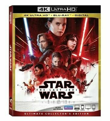 Star Wars: The Last Jedi (4K Ultra HD, Blu-ray, Digital, 2018) NEW NO slipcover!