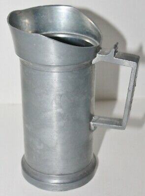 Antique Deciliter Pewter Tankard Mug Measuring Cups - 1/2 Liter - EUC