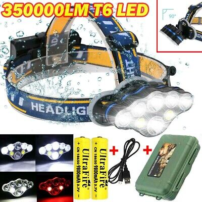 350000LM Rechargeable CREE XML T6 LED Headlamp Headlight Head Torch Flashlight