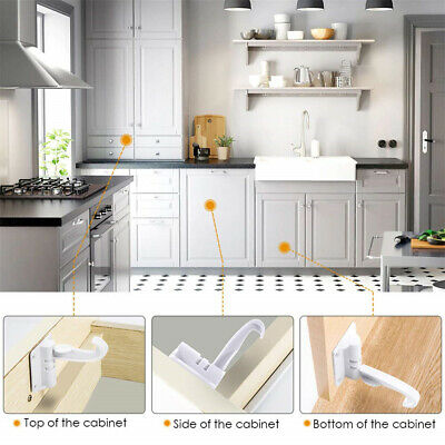 Cupboard Lock Child Safety Drawer Locks Spring For Bedroom Cabinets Invisible