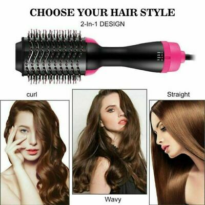 2in1 Pro Collection Salon One-Step Hair Dryer Brush Volumizer Comb Save Hot Air