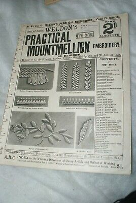 OF SOME AGE WELDON'S PRACTICAL MOUNTMELLICK EMBROIDERY No.45 Vol.4.