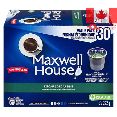 Maxwell House Decaf Coffee Keurig K-Cup Pods 30 Pods