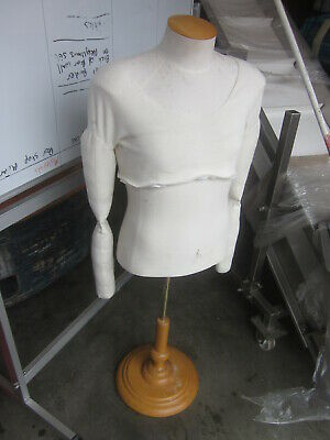 Male Free Standing.full Body Torso.. Muscle Mannequin Adult..on Timber Stand