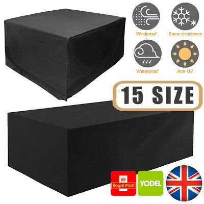 Large Heavy Duty Waterproof Rattan Cube Outdoor Garden Furniture Dust Rain Cover