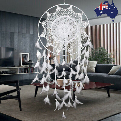 1m Large Hoop Handmade Dream Catcher With Feathers Hanging Dreamcatcher Decor