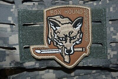 Z1068 écusson insigne patch militaire FOX HOUND SPECIAL FORCE GROUP AIRSOFT