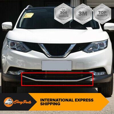 Chrome Front Bumper Lower Grill Trim S.steel For Nissan Qashqai J11 2014-2017