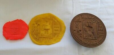 Egyptian Wood Probably Greek Orthodox Wooden Bread Stamp