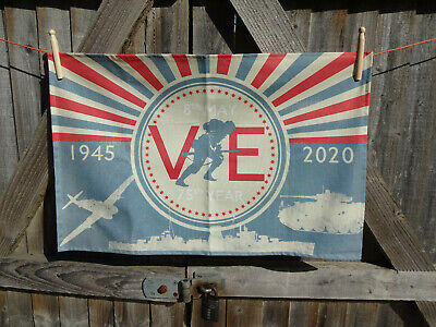 VE Day 75th Anniversary Tea Towel UK Made.  % of sale to SSAFA 4569