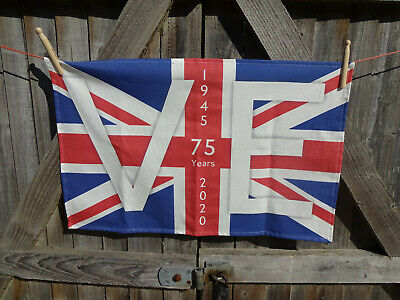 VE Day 75th Anniversary Tea Towel UK Made.  % of sale to SSAFA 4567