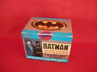 Batman Movie Cards Full Box Limited Edition Vgc Topps 143 Cards & 22 Stickers