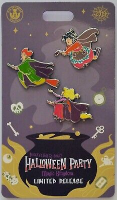 Disney Parks MNSSHP 2019 Hocus Pocus Sanderson Sisters On Brooms 3 Pins New