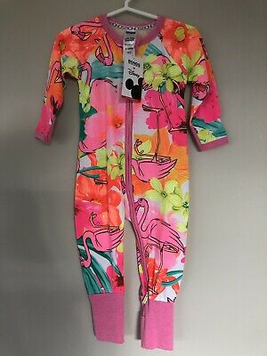 Bonds Disney Jungle Book Pink Flamingo Zippy Wondersuit Size 0 6-12 Months BNWT