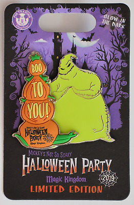 Disney Parks 2019 Mickey's Not So Scary Halloween Oogie Boogie LE Pin NEW