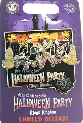 Disney Parks 2019 Mickey's Not so Scary Halloween Party Logo Pin Limited Release