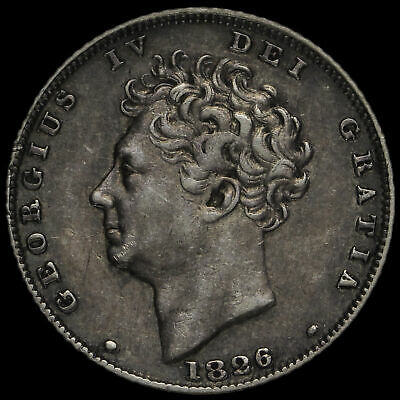 1826 George IV Milled Silver Sixpence, GVF+