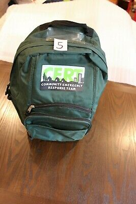 C.E.R.T. Logo Deluxe Green Emergency Survival Response Backpack