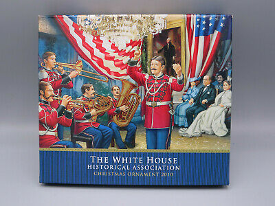 White House Historical Association 2010 Christmas Ornament with Box and Booklet