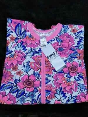 "Bonds Disney Zippy Wondersuit - Bnwt - ""Freestyle Blooms"" - Size 3 (1 Of 2)"