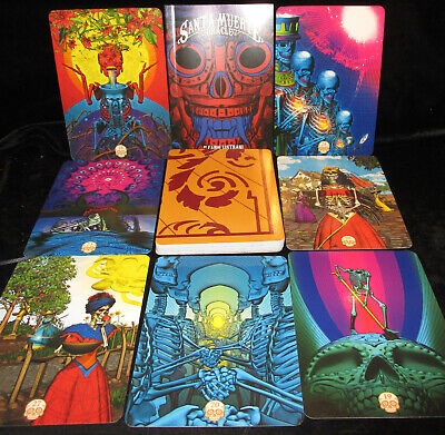 New! Mystical Santa Muerte Cards & Book Oracle Ouija On Card Backs Open For Pics