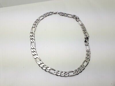 Chain Silver Neck Necklace Plated  Sterling Club Party Men 925 Jewelry Curb Pend