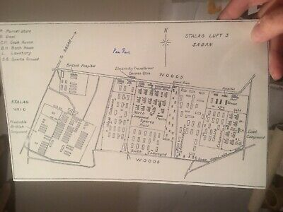 GREAT ESCAPE TUNNELER Ken Rees Signed STALAG LUFT III MAP