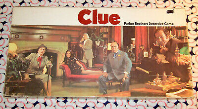 Clue Classic Detective Board Game Replacement Parts /& Pieces 1972 Parker Bros