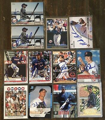 Various Minnesota Twins Signed Cards YOU PICK Autographs FREE Ship