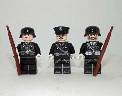 NEW German SS Officer and Guards Soldiers WW2 Army Custom Military Minifigures