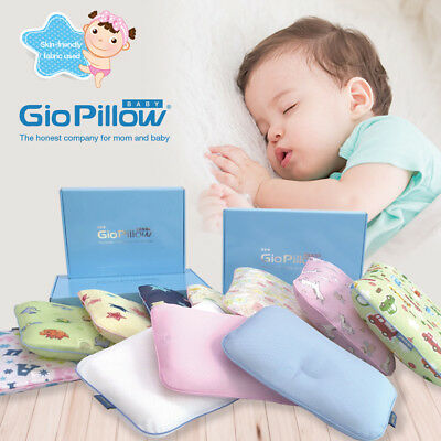 GIO Breathable Best Baby Pillow Flat Head Prevention Plagiocephaly 3D Air-Mesh