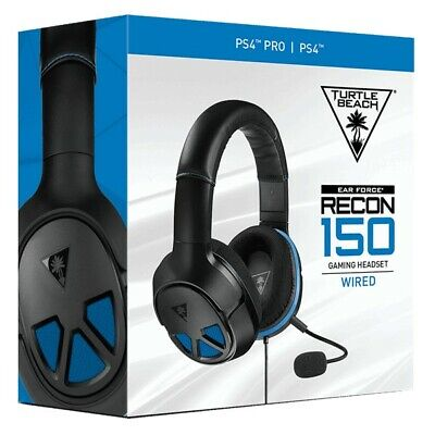 Turtle Beach Recon 150 Black/Blue Gaming Headset Wired with Mic for PS4, PC